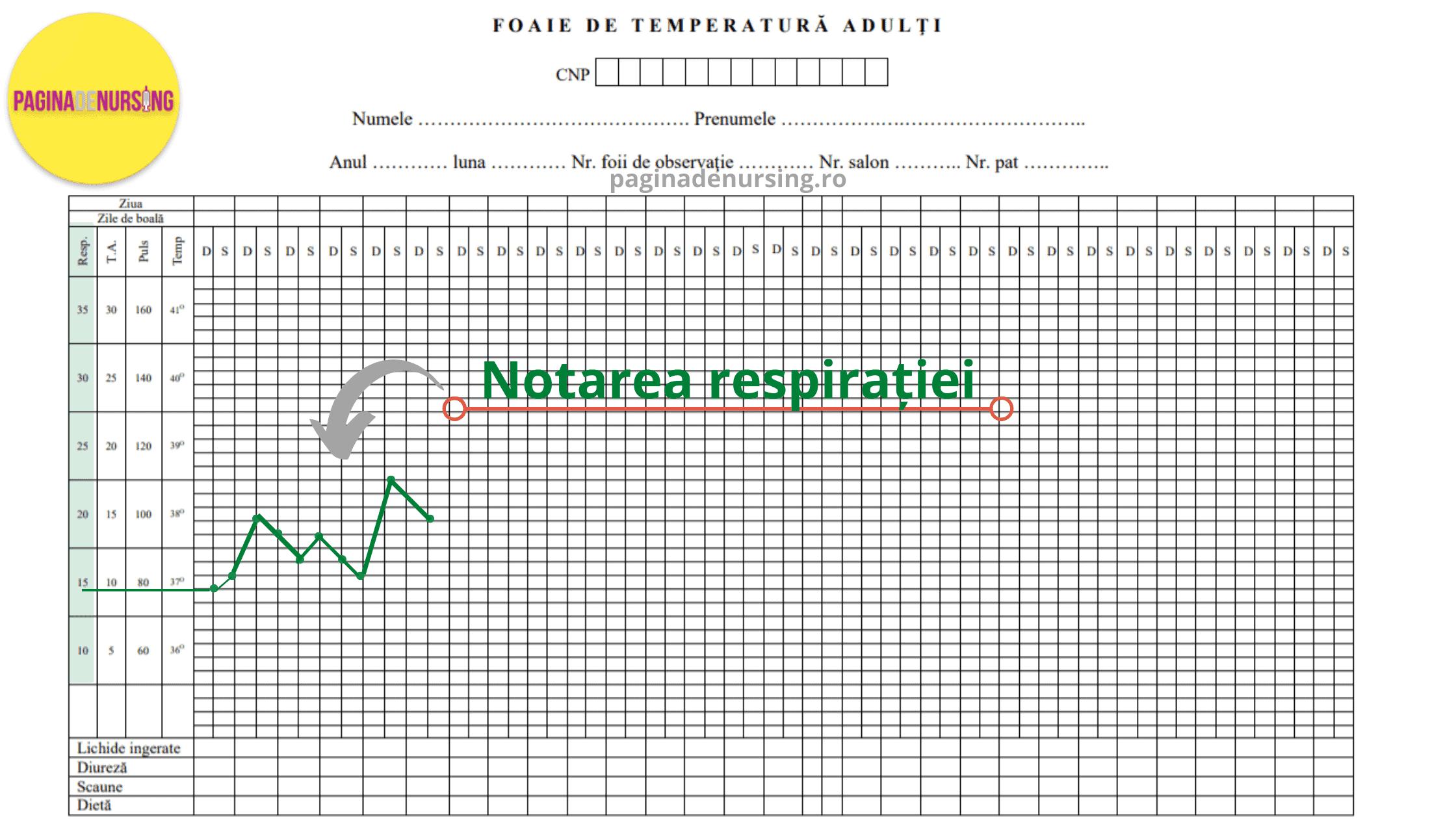 notarea respiratiei paginadenursing foaia de temperatura amg