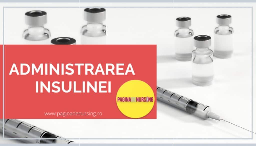 administrarea insulinei pagina de nursing