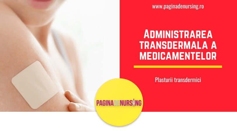 administrarea transdermala pagina de nursing