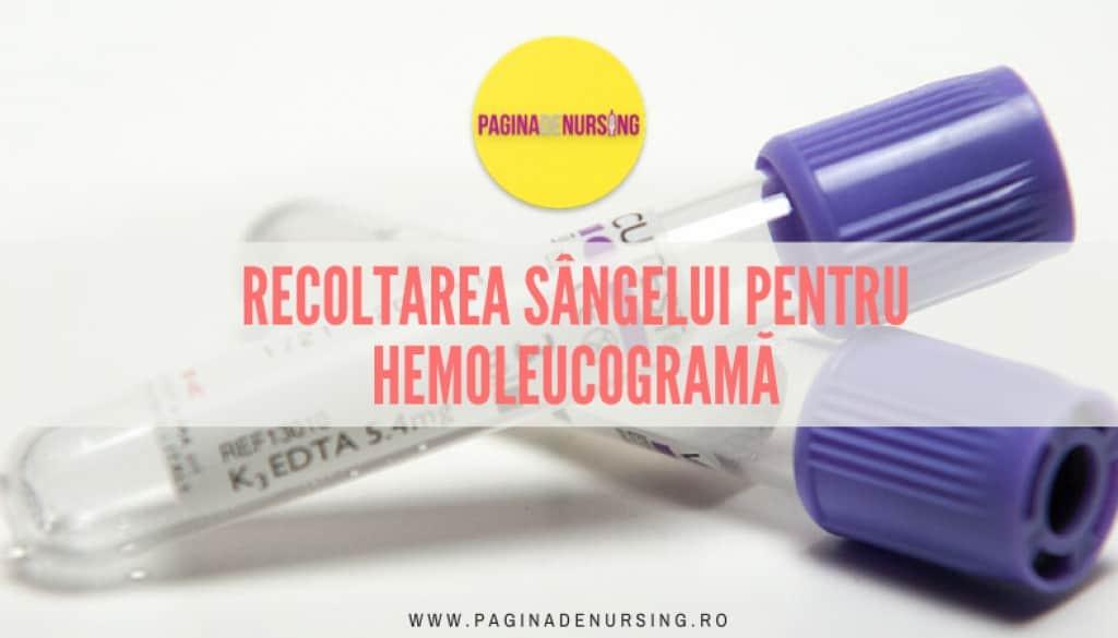 recoltarea sangelui pentru hemoleucograma