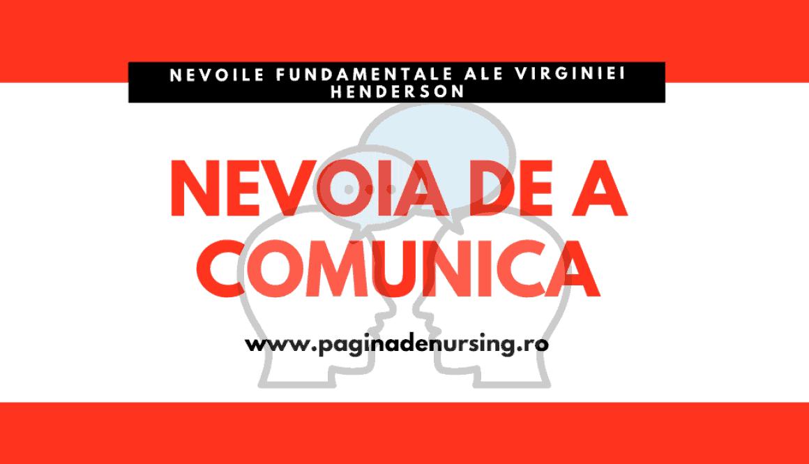 nevoia de a comunica pagina de nursing virginia henderson