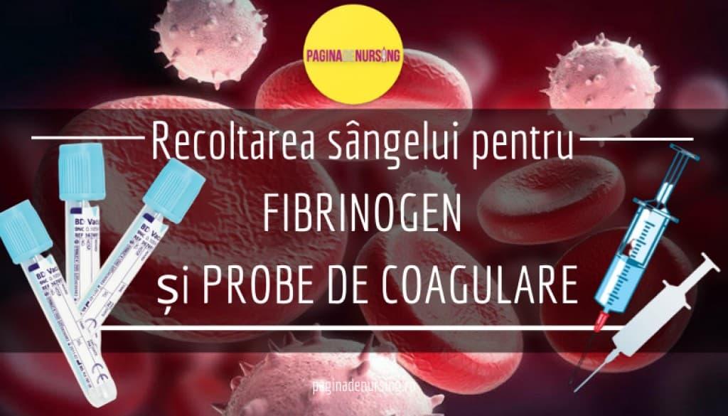 recoltarea sangelui pentru fibrinogen si probe de coagulare