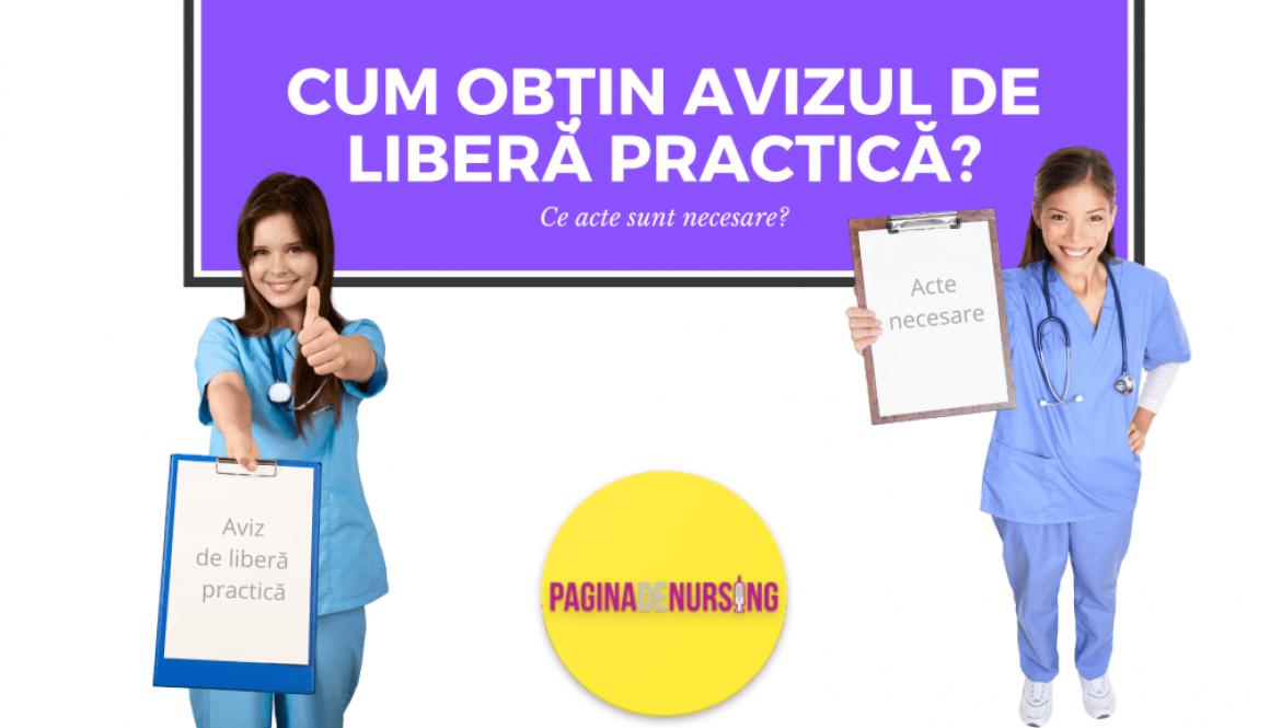 cum obtin avizul de libera practica ALP acte necesare asistent medical